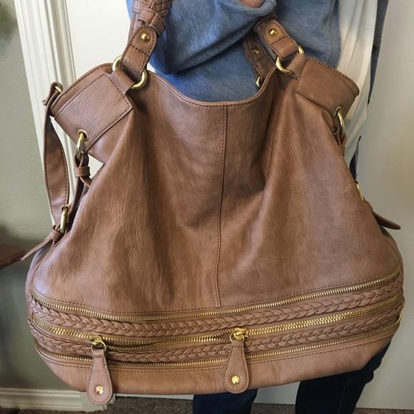 Urban Expressions Handbags - Oversized Tan Bag